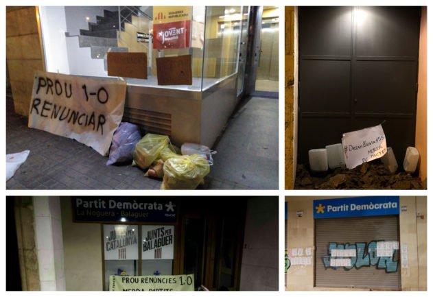 """ERC y PDeCAT son """"una 'merda de partits' por renunciar a la independencia"""", según los CDR"""
